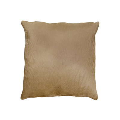 "Torino Cowhide Pillow 18"" X 18"" Natural"