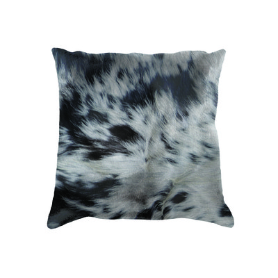 "Torino Cowhide Pillow 18"" X 18"" Black & White"