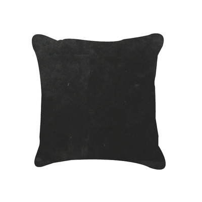 "Nelson Sheepskin Pillow 18"" X 18"" Black"