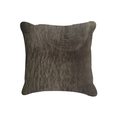 "Nelson Sheepskin Pillow 18"" X 18"" Chocolate"