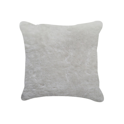 "Nelson Sheepskin Pillow 18"" X 18"" Natural"