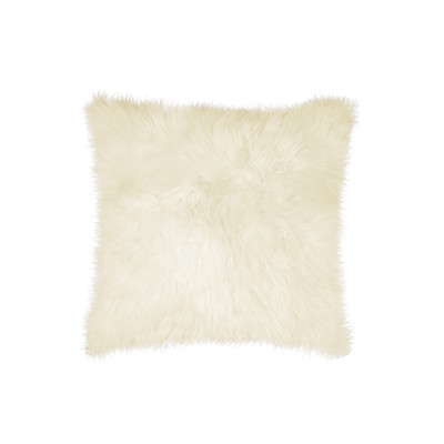 "New Zealand Sheepskin Pillow 18"" X 18"" Natural"