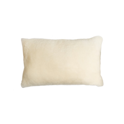 "Nelson Sheepskin Pillow 12"" X 20"" - Natural"