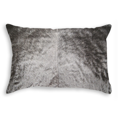 "Torino Cowhide Pillow 12"" X 20"" Black"