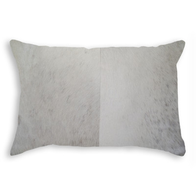 "Torino Cowhide Pillow 12"" X 20"" Natural"
