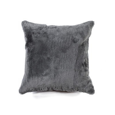 "Nelson Sheepskin Pillow 18"" X 18"" Gray"