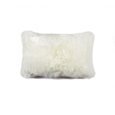 "New Zealand Sheepskin Pillow 12"" X 20"" Natural"