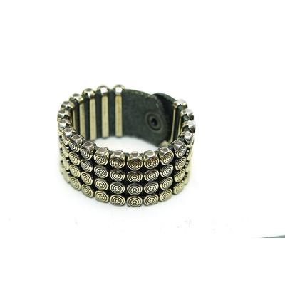 Recess Collection 'Circle Studs' Unisex Leather Bracelet