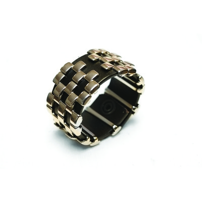 Recess Collection 'Checkers' Unisex Leather Bracelet
