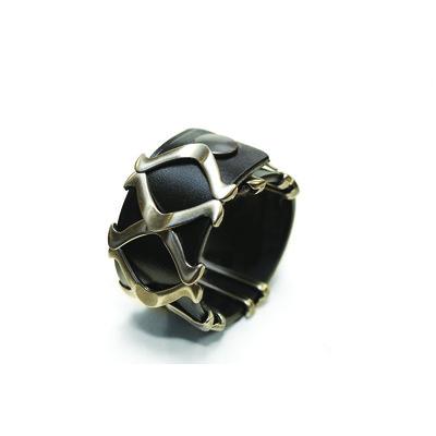 Recess Collection 'Chevrons' Unisex Leather Bracelet