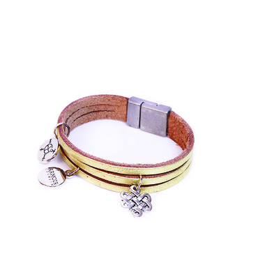 Astral Collection 'Endless Knot Charm' Leather Bracelet