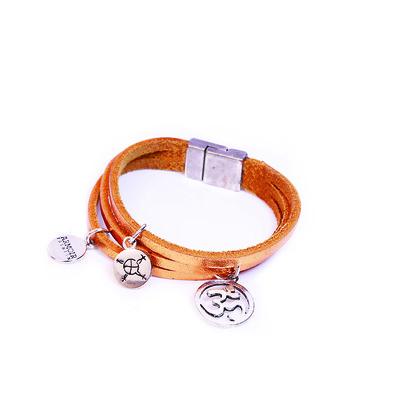 Astral Collection 'Om Charm' Leather Bracelet