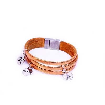 Astral Collection 'Peace Charm' Leather Bracelet