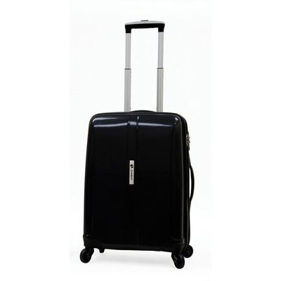 Samboro Shuttle Hardside Luggage 18 inch Spinner - Black Color