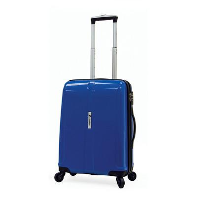 Samboro Shuttle Hardside Luggage 18 inch Expandable Spinner - Blue Color