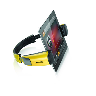 WizSpander Bluetooth Stereo Speaker and Multi-angle Foldable Stand for iPads, Tablets and All other Smart Devices