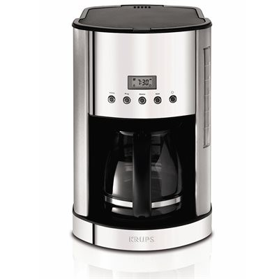 Krups 12-Cup Coffee Maker - Silver