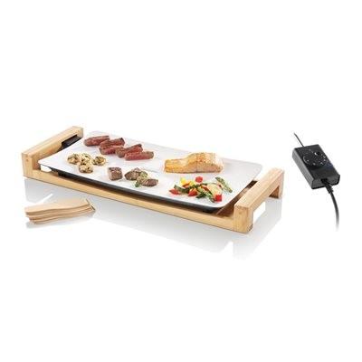 Swissmar Fusion Table Grill - White Ceramic/Bamboo
