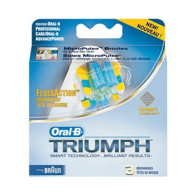 Oral-B Floss Action Toothbrush Heads (3)