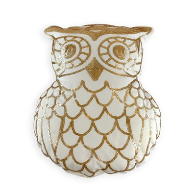 Golden Owl Pillow - Poly Insert