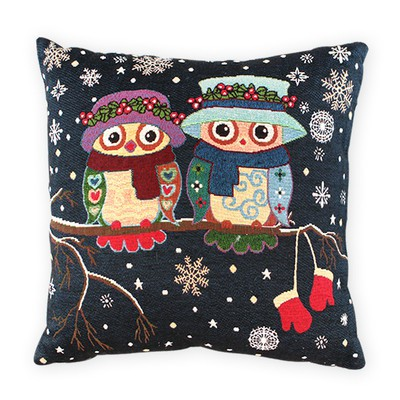 Doublet Owls in Winter t