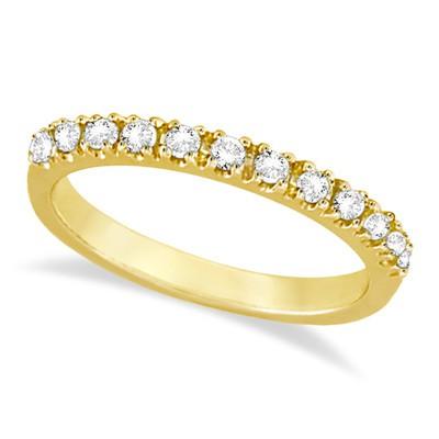 0.25ct Diamond Stacking Half-Eternity Ring Anniversary Band 14k Yellow Gold