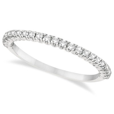 0.25ct Half-Eternity Fancy Pave-Set Diamond Stacking Ring Palladium