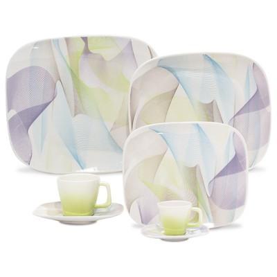 Porcelain Plate Set - Fusion - 12 Pieces