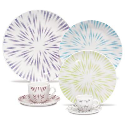 Porcelain Plate Set - Dust - 12 Pcs