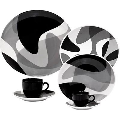 Porcelain Plate Set - Toss - 12 Pieces