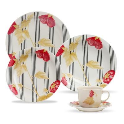 Floreal 12-Piece Daily Dinnerware Set
