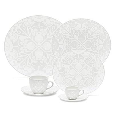 Loop Set of 20 Porcelain Dinnerware Set - Lace