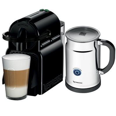 Nespresso D40BKPK Inissia Black & Aeroccino+ coffee maker