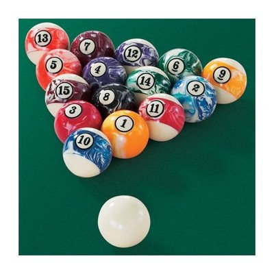 "2 1/4 "" Marbelized Pool Ball Set"