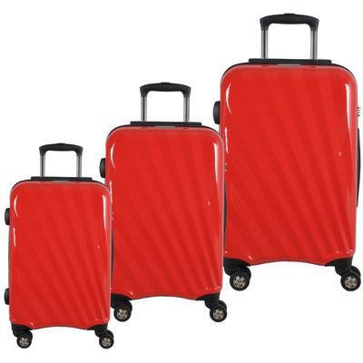 McBRINE 3 Piece 100 % Polycarbonate Luggage set on Swivel wheels