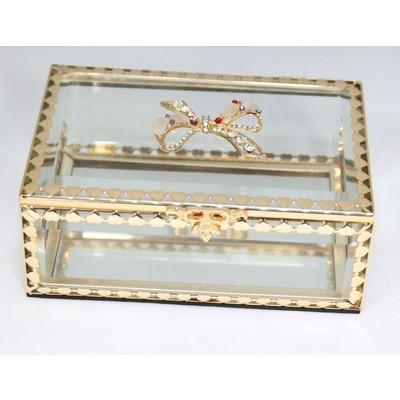 Glitzy Ribbon Crystal Jewelry box
