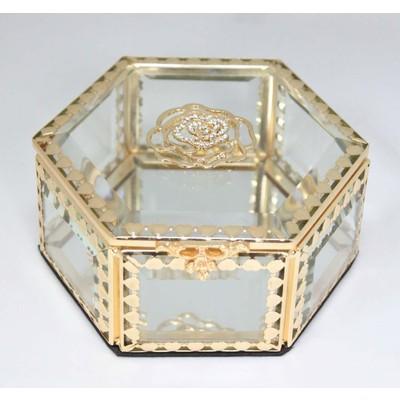 Glitzy Rose Crystal Jewelry Box