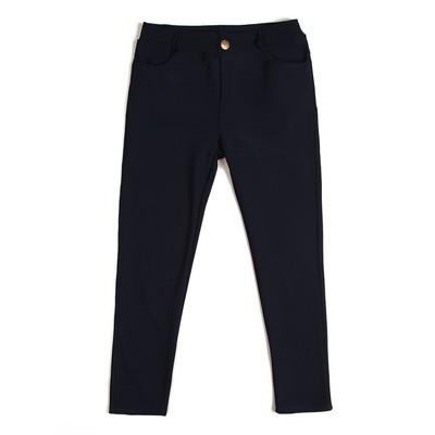 Luxanne Fur lined Cozy Navy Jegging
