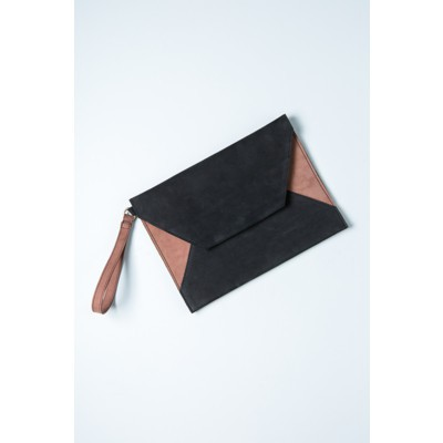 Envelope Clutch - Black Suede