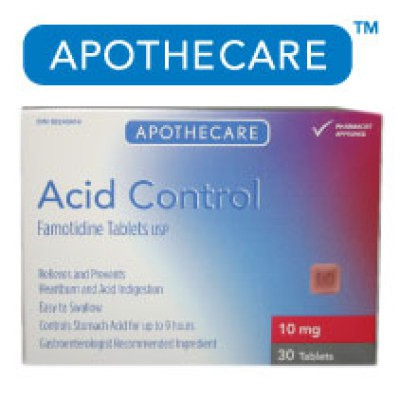 Apothecare Acid Control Tablets 30 Tablets - 10mg Famotidine