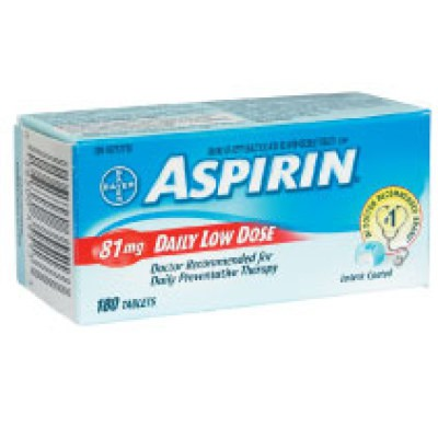 Aspirin Daily Low Dose 81mg 180 Tablets - Enteric Coated
