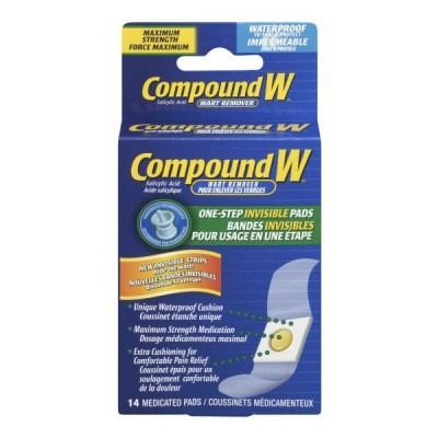 Compound W Invisible Wart Remover Pads 14 Pads
