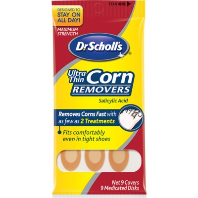 Dr. Scholl's Ultra-Thin Corn Removers 9 Covers, 9 Medicated Discs