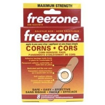 Freezone Corn Remover Pads 8 Medicated Pads