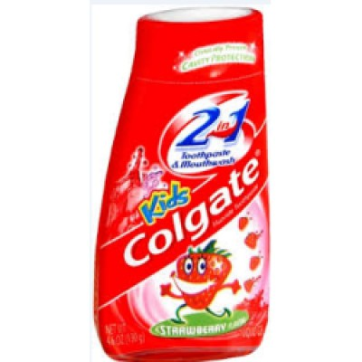 Colgate Kids 2 in 1 Liquid Gel 100mL - Strawberry