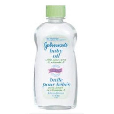 Johnson's Baby Oil with Aloe & Vitamin E 592mL - With Aloe and Vitamin E
