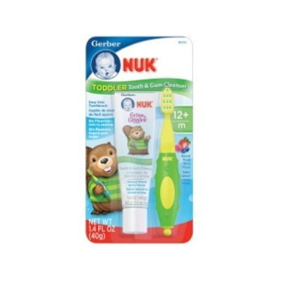 NUK Grins and Giggles Toddler Tooth and Gum Cleanser 40g ToothPaste - Plus Brush