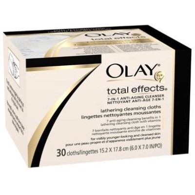 Olay Total Effects 7-In-1 Anti-Aging Lathering Cleansing Cloth Refill 30 Cleansing Cloths