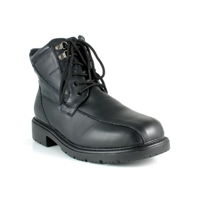 Men's Santana Canada Mens 'Mario' Leather Mens winter boots in Black, Size  10.5 MED