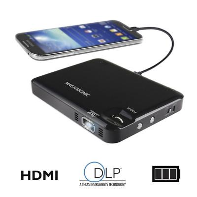"Magnasonic LED Pocket Pico Video Projector, HDMI, Battery, Speaker, 60"" Image (061783263303)"